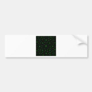Snowflakes – Green on Black Bumper Sticker