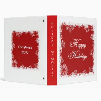 Snowflakes Happy Holidays Binder