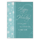 Snowflakes Happy Holidays Card