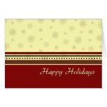 Snowflakes Happy Holidays Christmas Card