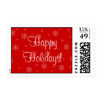 Snowflakes Happy Holidays Postage Stamps