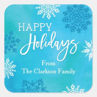Snowflakes Happy Holidays Sticker