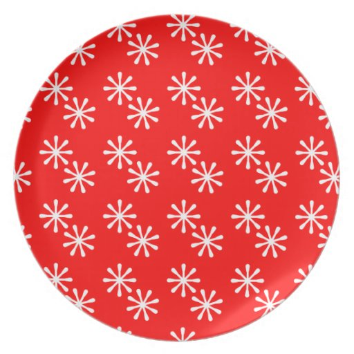 Snowflakes Holiday Dish Party Plate