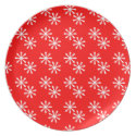 Snowflakes Holiday Dish plate