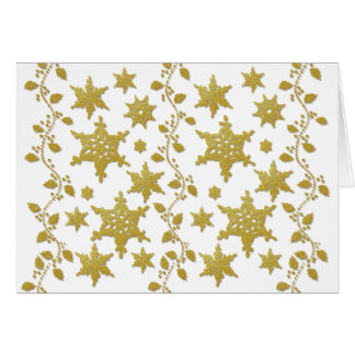 Snowflakes holly Christmas holiday party copy Card
