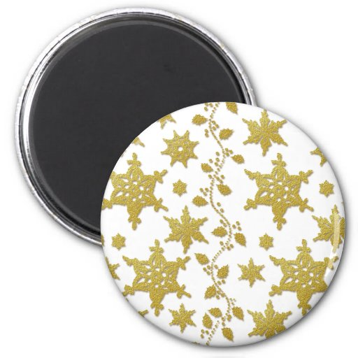 Snowflakes holly Christmas holiday party copy Refrigerator Magnets