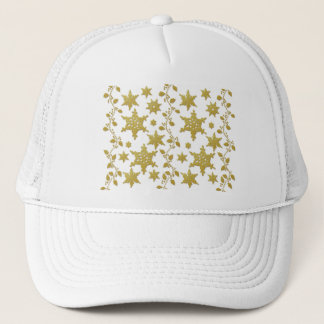 Snowflakes holly Christmas holiday party copy Trucker Hat