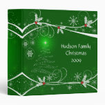 Snowflakes Holly Tree Photo Album - 1.5 in Binder
