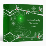 Snowflakes Holly Tree Photo Album 3 Ring Binder