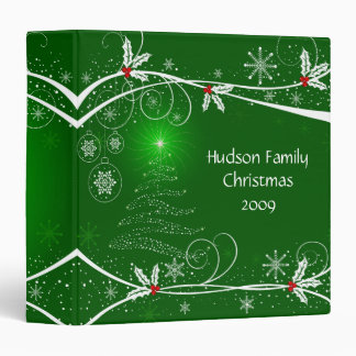 Snowflakes Holly Tree Photo Album 3 Ring Binders