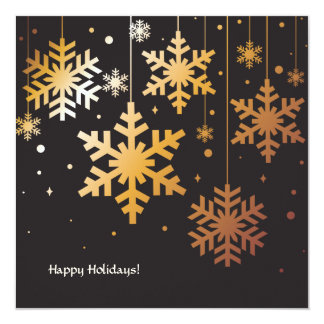 Snowflakes Hung With Care Holiday Photo Card