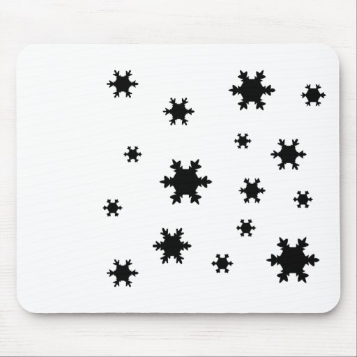 snowflakes icon mouse pad