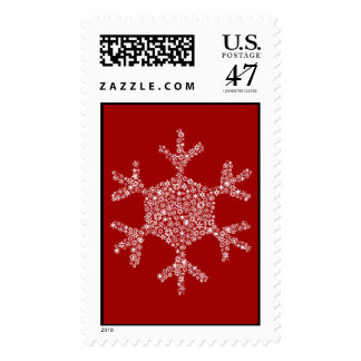 Snowflakes in a Snowflake - Postage Stamp