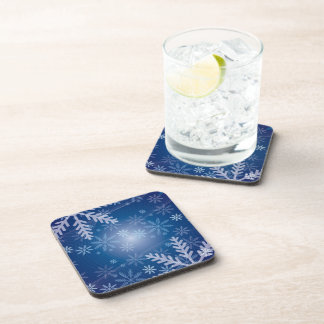 Snowflakes in Blue Drink Coaster