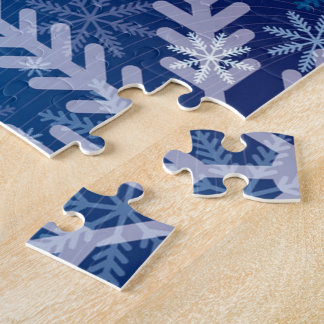 Snowflakes in Blue Jigsaw Puzzle