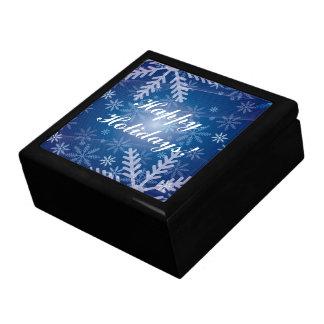 Snowflakes in Blue Keepsake Box