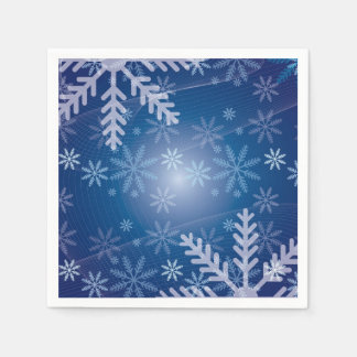 Snowflakes in Blue Napkin