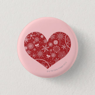 Snowflakes in Heart Pinback Button