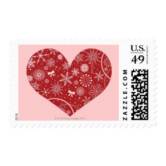 Snowflakes in Heart Postage