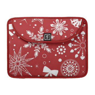 Snowflakes in Heart Sleeve For MacBook Pro
