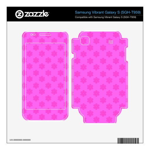 Snowflakes in pink samsung vibrant decal