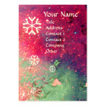 SNOWFLAKES IN SILVER SPARKLES LARGE BUSINESS CARD