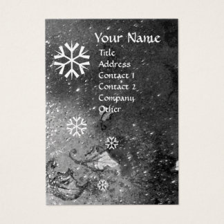 SNOWFLAKES IN SILVER SPARKLES ,pearl paper Business Card