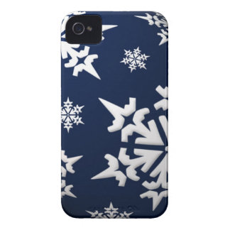 Snowflakes iPhone 4 ID Case-Mate