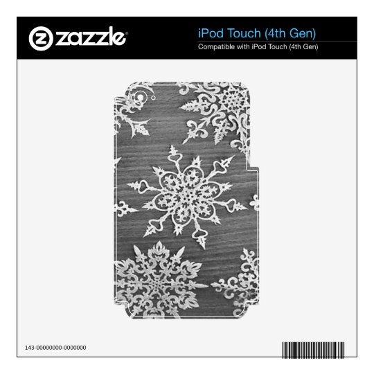 Snowflakes iPod Touch 4G Skin