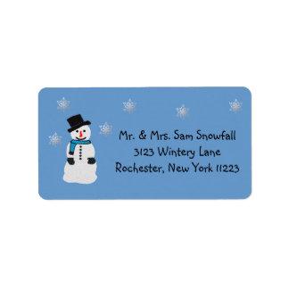 Snowflakes Address Label