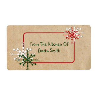 Snowflakes Label Shipping Label