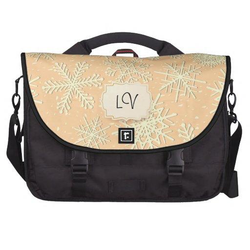 Snowflakes,laptop bag