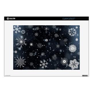 snowflakes laptop decals