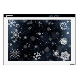 snowflakes laptop skin