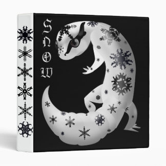 Snowflakes Leopard Gecko Binder