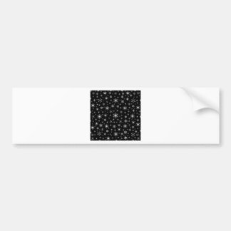 Snowflakes – Light Gray on Black Bumper Stickers