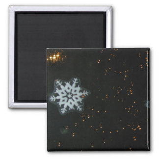 Snowflakes & Lights magnet