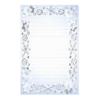 Snowflakes Lined Writing Paper