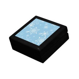 Snowflakes Lt. Blue Keepsake Box