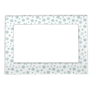 Snowflakes Magnetic Photo Frame