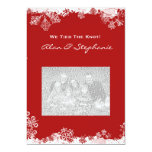 """Snowflakes Marriage Announcement Cards 5"""" X 7"""" Invitation Card"""