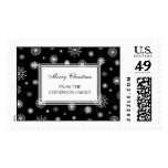 Snowflakes Merry Christmas Custom Name Stamps