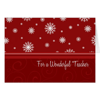 Snowflakes Merry Christmas for Teacher Card
