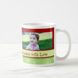 Snowflakes Merry Christmas Grandpa Mug