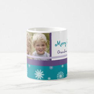 Snowflakes Merry Christmas Grandparents Mug