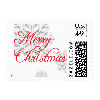 Snowflakes Merry Christmas Holiday Stamps