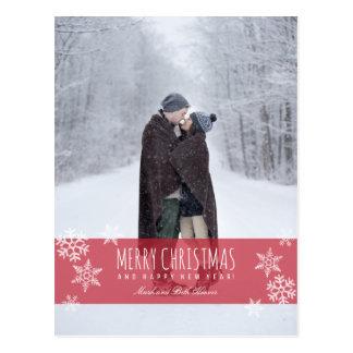Snowflakes MERRY CHRISTMAS Postcard