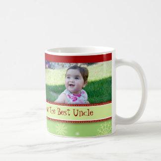 Snowflakes Merry Christmas Uncle Mug