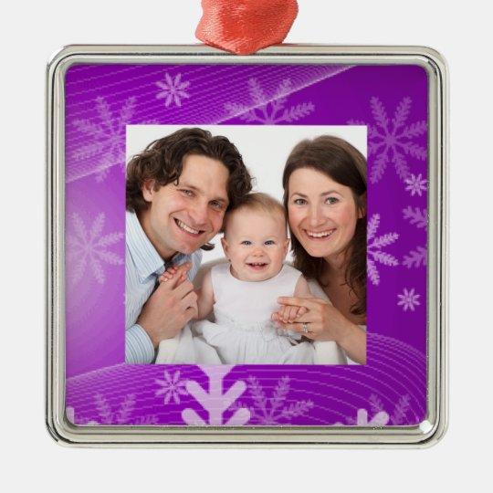 Snowflakes Metal Ornament