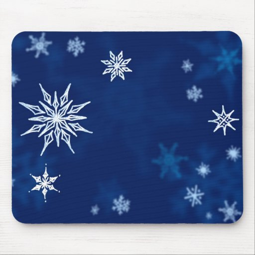 Snowflakes Midwinter Night Mouse Pads